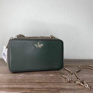 KATE SPADE Connie Double Zip chain crossbody